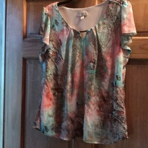 XL pretty multi color top